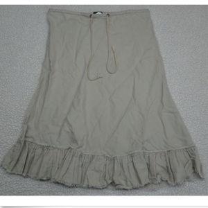 J. Crew Size XS Skirt Linen Cotton Blend